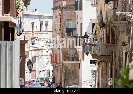 Taranto, Apulien, Italien - 31. Mai 2017 - Das Leben als Mitglied der Arbeiterklasse in Italien Stockbild