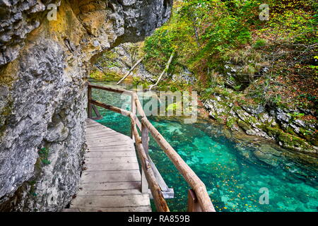 Slowenien - Vintgar Gorge, Triglav Nationalpark, julischen Alpen Stockbild