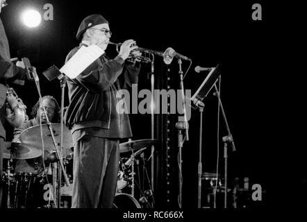 Randy Brecker, Brecon Jazz Festival, Brecon, Wales, August 2001. Stockbild