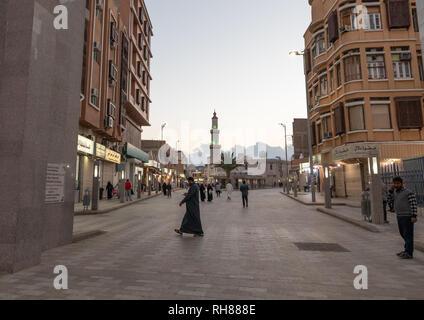 Gebäude im Zentrum der Stadt, in der Provinz, Taïf Mekka, Saudi-Arabien Stockbild
