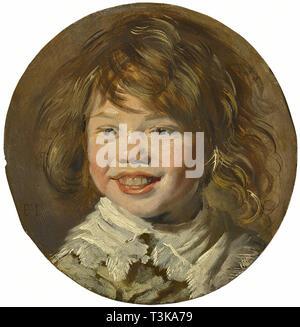 Lächelnde Junge, ca 1625. In der Sammlung des Mauritshuis, Den Haag gefunden. Stockbild