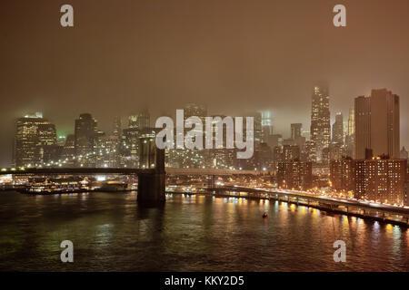 Brrokly Brücke - New York City - Vereinigte Staaten - USA Stockbild