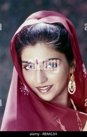 Portrait von Bhagyashree, Indien, Asien Stockbild