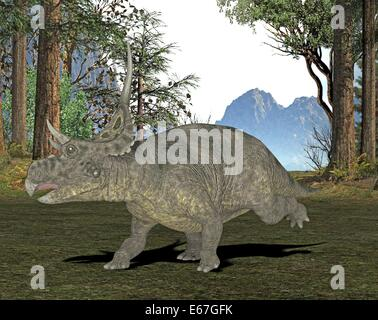 Dinosaurier Diabloceratops / Dinosaurier Diabloceratops Stockbild