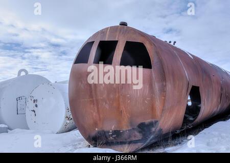 einer alten militärischen bunker Stockbild