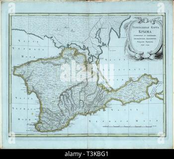 Übersichtskarte der Krim, 1791. Private Sammlung. Stockbild