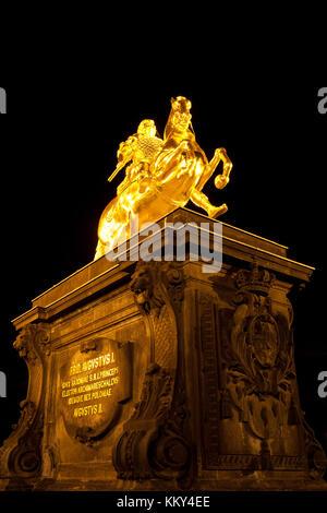 Dresden - Deutschland - Goldene Reiter, Europa Stockbild