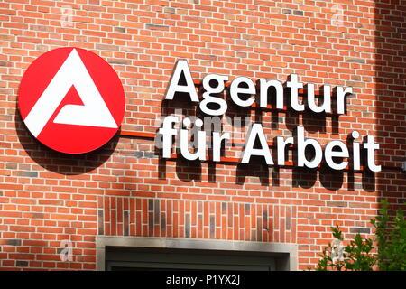 Logo der Agentur für Arbeit, Lüneburg, Niedersachsen, Deutschland, Europa ich Logo Agentur für Arbeit, Lüneburg, Niedersachsen, Deutschland, Europa Stockbild