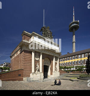 Tor in Berlin, Wesel, Deutschland Stockbild