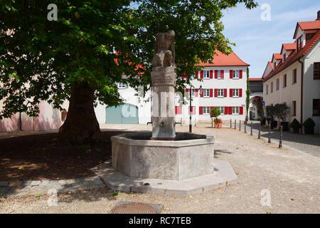 Maximiliansplatz, Günzburg, Schwaben, Bayern, Deutschland, Europa ich Maximiliansplatz, Günzburg, Schwaben, Bayern, Deutschland, Europa I Stockbild
