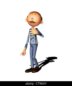 Cartoon Figur Mann Stockbild