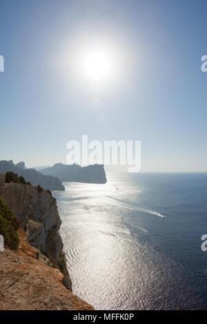 Cap de Formentor, Mallorca, Spanien - die Natur und die schöne Landschaft von Formentor beeindruckt Stockbild