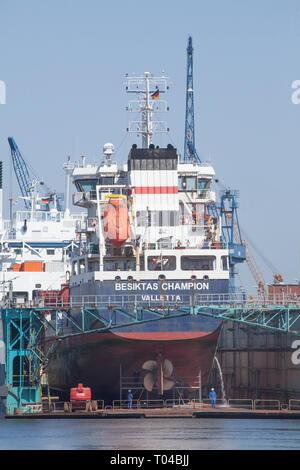 Kaiserhafen I, Schiff, Hafen, Kräne, Dock, Bremerhaven, Bremen, Deutschland, Europa ICH KAISERHAFEN I, Schiff, Hafenkräne, Dock, Bremerhaven, Bremen,,Deuts Stockbild