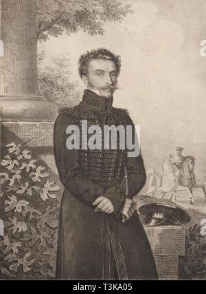 Porträt des Grafen Paul Khristoforovich Grabbe (1789-1875), 1820. In der Sammlung des Staatlichen Museums für A.S. Puschkin, Moskau gefunden. Stockbild