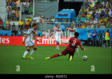 Fifa WM 2014, Deutschland gegen Portugal, Salvador da Bahia, Brasilien Stockbild