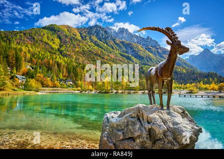 Jasna See, Nationalpark Triglav, Julische Alpen, Slowenien Stockbild