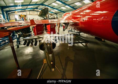 Der Jäger in der Neville Duke flog seinen World Air Geschwindigkeitsrekord von 727 mph in 1953 zu sichern. Dieses einzigartige Flugzeug wurde im Juni 1948 als einer der bestellt Stockbild