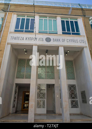 Bank von Zypern, Nikosia, Filiale, auf faneromeni Straße Stockbild