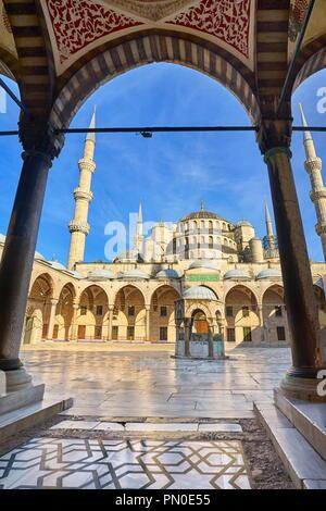 Istanbul - Blaue Moschee, Sultan Ahmed Moschee, UNESCO-Weltkulturerbe, Türkei Stockbild