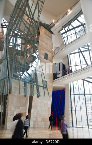 Guggenheimmuseum, Bilbao, Spanien Stockbild