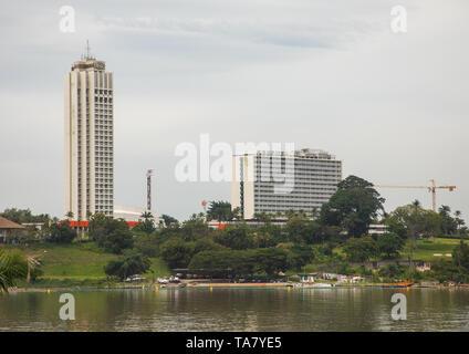 Luxus Hotel Ivoire Sofitel, Région de Lagunen, Abidjan, Elfenbeinküste Stockbild