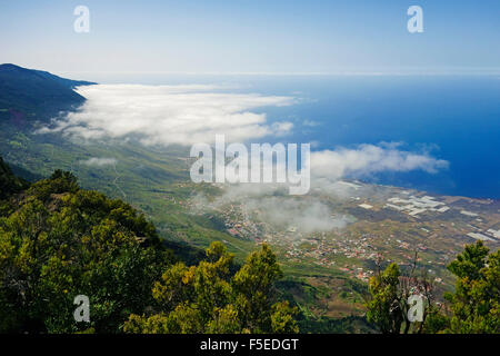 Las Puntas und El Golfo Bay, gesehen von Tibataje, El Hierro, Kanarische Inseln, Spanien, Atlantik, Europa Stockbild