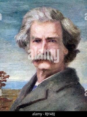 MARK TWAIN (1835-1910) amerikanischer Schriftsteller und Dozent Stockbild