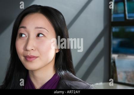 Geschäftsfrau denken Stockbild