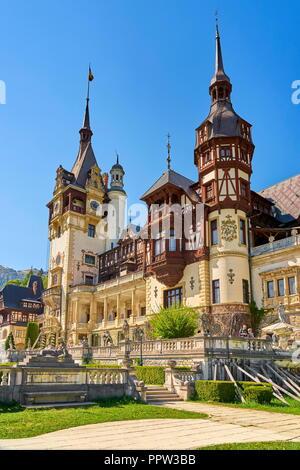 Schloss Peles, Sinaia, Siebenbürgen, Rumänien Stockbild