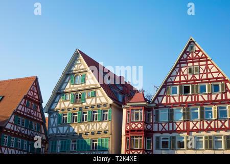 Traditionelle alte deutsche Häuser. Stockbild