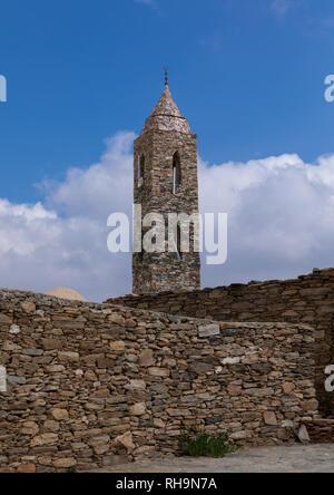 Moschee von Steinen, Asir Provinz, Tanomah, Saudi-Arabien Stockbild