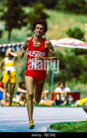 Frank Kürzere konkurrieren in der National Sports Festival 1979 Stockbild