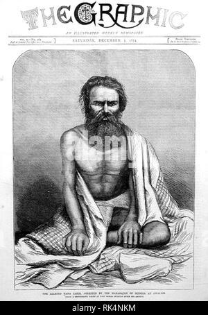 NANA SAHIB (1824-1903?) Indische Edelmann der Maratha Empire. Ein Mann dachte, Sahib, wenn sie von der Maharadscha von Scindiah in Gwalior verhaftet. Der Sahib Leben nach 1859 in Frage steht. Er kann im Jahr 1903 gestorben sind. Quelle: Die Grafik vom 5. Dezember 1874 Stockbild