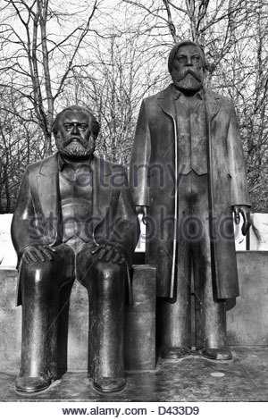 Deutschland Berlin der Marx-Engels-Denkmal Stockbild