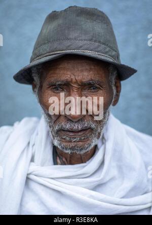 Veteran aus dem italo-äthiopischen Krieg, Addis Abeba region, Addis Abeba, Äthiopien Stockbild