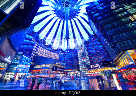 Sony Center in Berlin, Deutschland. Stockbild