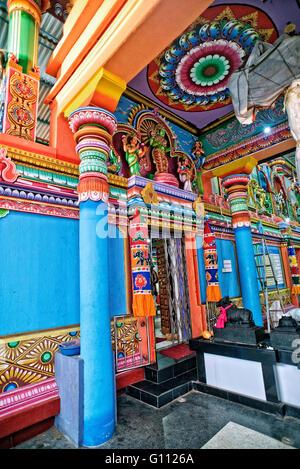 Innenraum des Koneswaram-Tempels in Trincomalee, Sri Lanka Stockbild