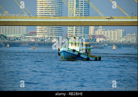 Chao-Phraya-Fluss, Bangkok, Thailand Stockbild