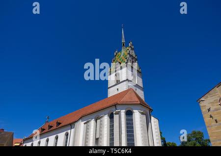 Die katholische Kirche St. Nikolaus in Friedrichshafen am Bodensee, Baden-Württemberg, Deutschland, Europa. Stockbild