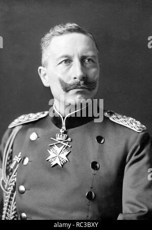 WILHELM II. (1859-1941) der letzte deutsche Kaiser, fotografiert im Jahre 1902 Stockbild