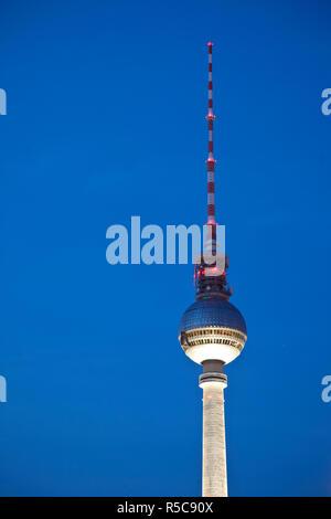 Fernsehturm (Fernsehturm), Berlin, Deutschland Stockbild