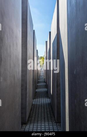 Die jüdischen Holocaust-Mahnmal, Cora-Berliner-Straße, Mitte, Berlin, Deutschland Stockbild
