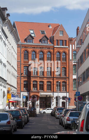 Altes Wohnhaus in Lavesstraße, Hannover, Niedersachsen, Deutschland, Europa ich altes Wohnhaus in der Lavesstraße, Hannover, Niedersachsen, Deutschl Stockbild