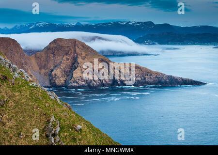 Küstenlandschaft auf der Insel Runde, atlantischen Westküste, Østfold, Norwegen. Stockbild