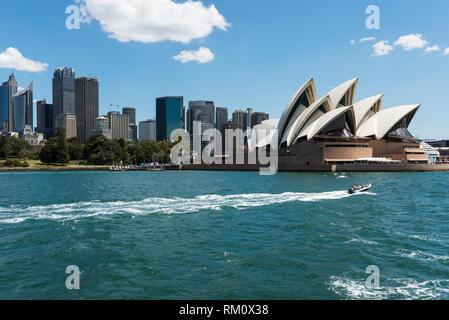 Ein Blick auf die Oper von Sydney. Stockbild