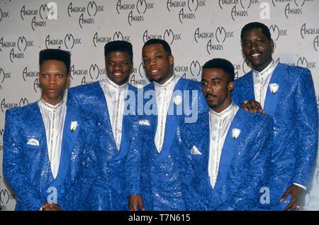 Neue Ausgabe der US-amerikanischen R&B-Gruppe im Jahr 1989 Stockbild