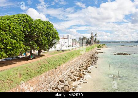 Galle, Sri Lanka, Asien - Besuch der historischen Stadtmauer von Galle Stockbild