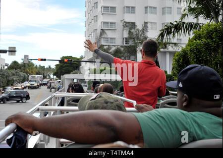 Miami Bus Touren Stockbild