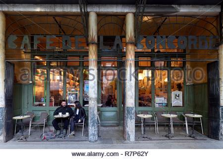 Frankreich, Haute Garonne, Toulouse, Place de la Concorde, Place de la Concorde Café, das älteste Café von Toulouse Stockbild