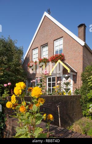 Das historische Haus in der Altstadt, Leer, Ostfriesland, Niedersachsen, Deutschland, Europa ich Historisches Haus in der Altstadt, Leer, Ostfriesland, Niedersach Stockbild